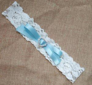 Kalp Rhinestone Bacak Çorap Suspender ile Düğün Garter Vintage Şerit Bow Gelin Dantel jartiyer