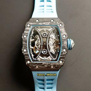 JB version RM 53-01 Pablo Mac Donough NTPT Carbon Fibre Case Real Tourbillon Automatic RM53-01 Mens Watch Sapphire Rubber Designer Watches