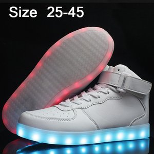 Usb Luminous Sneakers Baskets Femme Led Shoes With Light Up Sole Kids Boys Glowing Sneakers Chaussure Enfant Led Slippers 32 S200107
