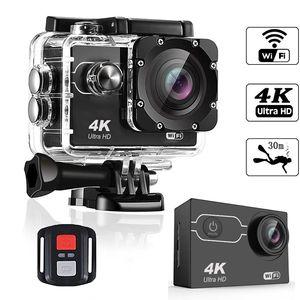 """Ultra HD 4K / 30fps azione 30m Fotocamera impermeabile 2"""" dello schermo 1080P 16MP telecomando Sport macchina fotografica di Wifi estrema HD Helmet Camcorder auto Cam"""