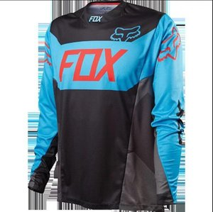 FOX off-road motorcycle racing downhill suit T-shirt polyester quick-drying long-sleeved custom team version cycling suit long-sleeved car c