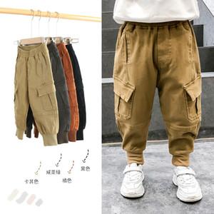 Pantalones para niños Pantalones Sport Boys Pantalones de Carga grandes bolsillos de algodón 2019 otoño invierno de los bebés de los pantalones ocasionales Niños Expedición