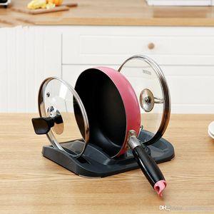 Fente simple Type de couvercle Pot Drainante rack PP Matériel ustensiles de cuisine Support de rangement Pan Pot Cover rack Cuisine étagère