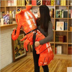 Nuovo grande gamberetti 120 centimetri simulato Animal Mantis cuscino della peluche 47 '' Big farcito del giocattolo gamberetti Kids Play Doll
