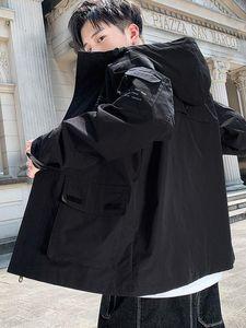Мужские куртки повседневная рабочая куртка красная осень бейсбольная форма сплошной цвет ретро мальчики мода одежда продает GG50JK