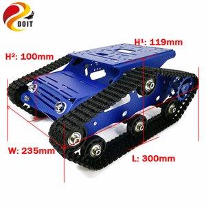 DIY Robot Projesi için 12V 320RPM Yüksek Güç Motorlu Alüminyum Alaşım Çerçeve Plastik Tracks ile YP100 Tank Şasi Robot Tank Modeli