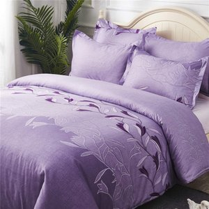 Purple Color Bedding Set King Twin Queen Size for Adult Women Bedding Suit 2 3pcs with Flowers of Bed Cover Set 2019 New
