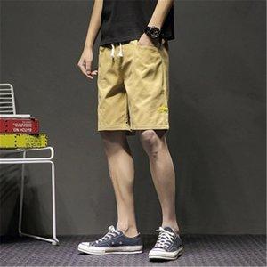 Mens Outdoor élastique court d'été Designer Homme en vrac Wash poches Shorts New Adolescent RUNNING Lace Up Vêtements Pantalons