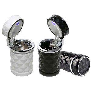 Luxury Car Accessories Portable LED Light Car Ashtray Universal Cigarette Cylinder Holder Car Styling Mini