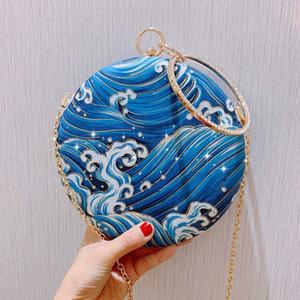 Женская сумка Crossbody Круглые сумки Женщины мешок руки цепи кошелек кошелек повелительница сумки Samll сумка
