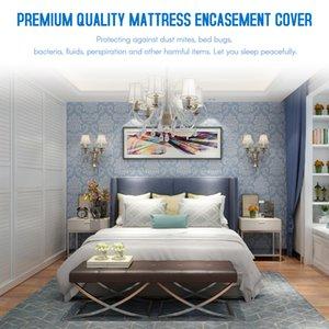 4 Tamaños Colchón Encasement blanco de la cubierta de poliéster colchón Encasement cubierta impermeable Cubiertas inofensivo respirables no tóxicos
