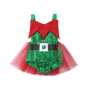 ONE DAS Säuglings-Baby-Kleinkind-Mädchen Christmas Elf Tutu Body Halloween Kostüm