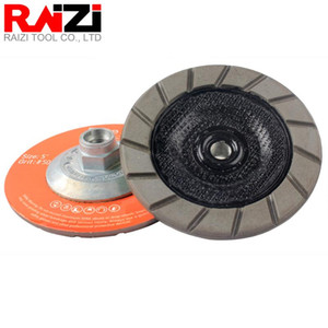 Beton Zemin çizikler Temizleme Kuru Parlatma Disc için RAIZI 5 inç / 125mm Elmas Kolay Kenar Taşlama Kupası Tekerlek Seramik Bond