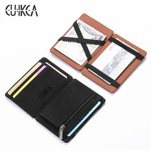 CUIKCA Original hommes portefeuilles magiques mode mini portable en cuir porte-monnaie porte-cartes femmes titulaire de la carte hommes portefeuille XF269