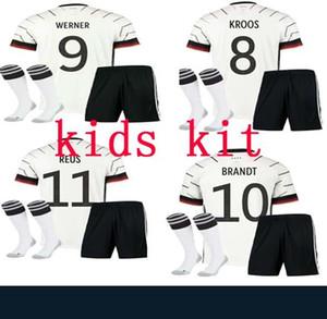 발 드 2020 2021 키즈 독일 (13) MULLER 홈 키트 멀리 축구 유니폼 8 KROOS 축구 셔츠 5 HUMMELS 17 BOATEN 새로운 타이츠