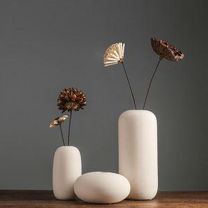100% nouvelle marque de porcelaine Créativité simple et style moderne blanc Vases Vases en céramique pour mariage Décoration 1