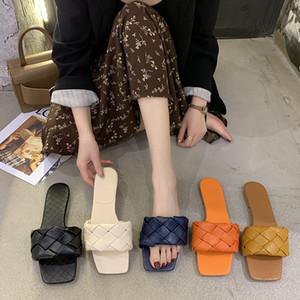 2020 Sommer-neue Ankunfts-Frauen Hausschuhe Top-Qualität Mode Hausschuhe beiläufige Strand-Slides Slip-on-Wohnung Loafers