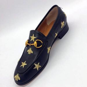 Gucci Tasche Luxus Echtes Leder und flache Schuhe 2018 Frühling und Herbstsaison hococal Frauen Schuhe Männer und Frauen flache Ferse Designer einzelne Schuhe