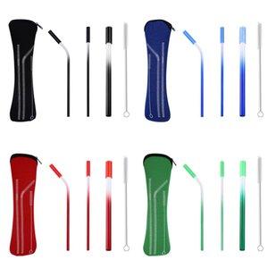 Paslanmaz Çelik Hasır Set Çevre Dostu Basitlik Tubularis Suit Silikon Kafa Emme Tüpleri Kiti Moda Taşınabilir 8 2zj J1