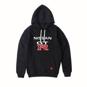 Yeni Moda NISSAN GTR Marka Araba Logosu Baskı Spor Hoodies erkek Uzun Kollu Kazak Erkek Kazak Hoody Açık giyim Tops