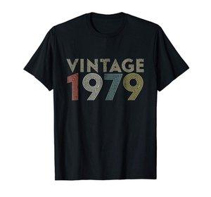 40th подарок на день рождения винтаж 1979 футболка классический мужской новый 2019 жаркое лето повседневная печать Harajuku смешно настроить футболки