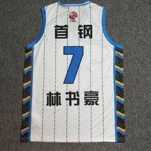 China Jeremy Lin # 7 Beijing Basketball Jerseys Linsanity Taipei LinShuHao CUSTOM imprimir qualquer número nome Jérsei 4XL 5XL 6XL
