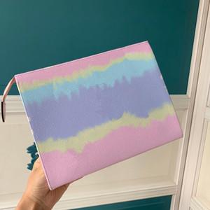 ESCALE Collection Toilette 26 femmes Poche de Designer Tie-Dye Imprimer pochette chic et Toiletry sacs cosmétiques compagnon de Voyage pratique