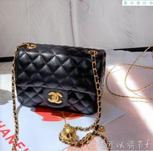 2020, bir omuz eğimli omuz çantası Ling kareli metal çift zincir torba taahhütlü moda tasarım Joker yeni bahar ve yaz