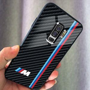 Cristal de carbono caja del teléfono Benz AMG BMW cubierta del teléfono para el iphone Desginer 11 PRO MAX 7 8 + X XS XSMAX XR Samsung S10
