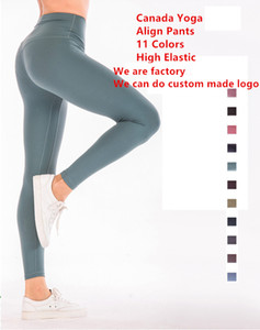 11 couleurs Pantalons Aligner femmes Canada Yoga Marque Designer Leggings Sexy Lady Gym en cours Joggings Pantalon Fitness Sports Leggings 5010
