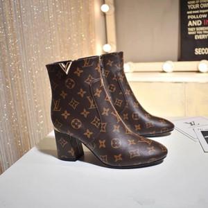 MÁS NUEVA marca Mujeres MARAVILLAS RANGER con cordones de arranque de cuero del diseñador Señora vidriada plana talón suela de goma botas con la caja