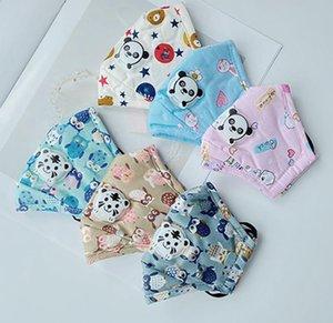 New Kids Face Mask Cute Panda Картонных респираторов Респиратор РМ2,5 пылезащитные дышащий Resuable Дизайнер Маски IIA415