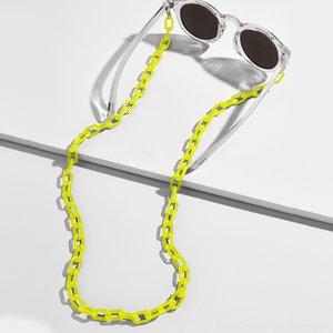 Mode pour femmes Chaînes de lunettes larges Accessoires de Mode Autres Chaînes acrylique AntiSlip support de cordon réglable Lunettes de cou lecture