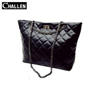 2016 Challen Урожай Женщины сумка ватные цепи сумки на ремне сумки женщина Мягкие Pu Рука мешок женщин