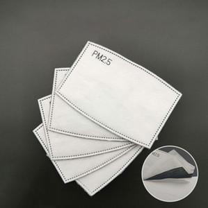 em estoque PM2.5 filtro de máscara 5 camadas máscara Filtro de carbono ativado filtro de inserção de protecção Insert para a boca Máscara venda quente