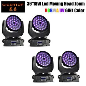 4pcs / Lot Yüksek Kalite Güçlü Baş Yıkama Light'ın 19chs DMX Kontrol Tyanshine Led Moving 36x18w Rgbwa UV Quad Zoom'u Tavsiye