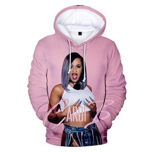 Cardi B 3D Print Couple Sweatshirts Mens Womens Designer Hoodies Winter Clothing Hooded Fashion Casual Apparel