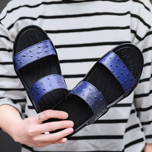 2019 Summer New Style Large Size Trend Casual Leather Slippers Men's Youth Fashion Fashion Man Sandals