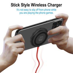 Téléphone Jeu chargeur sans fil bâton style avec Strong puissance Suckers 10W Charge rapide pour Smart Phone