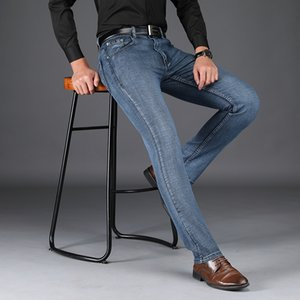 SULEE Marka 2019 İlkbahar Sonbahar Erkek İş Denim Jeans tulumları Tasarımcı Erkekler Jeans Erkekler Pamuk Stretch Klasik Düz