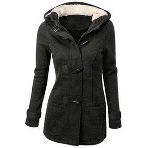 Giacche da donna in fondo inverno giacche invernali con cappuccio con cappuccio manica lunga sottile grande taglia con cerniera outwears femmina cotone grande 2021