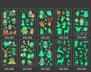 10 piezas de Luminous partido pegatinas tatuaje temporal Fiesta de Carnaval Decoración de Navidad Año Nuevo Decoración Decoración de Navidad