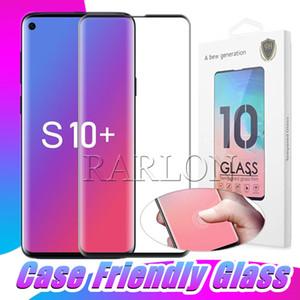 Корпус, дружественное закаленное стекло для Samsung Galaxy S21 S20 Ультра S10 S9 PLUS Примечание 20 10 9 8 S8 3D изогнутый экран протектор с розничной упаковкой