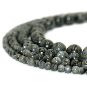 Натуральный камень черный Лабрадорит Ларвикит бусины круглый драгоценный камень свободные бусины для DIY браслет ювелирные изделия делая 1 нить 15 дюймов 4-10 мм