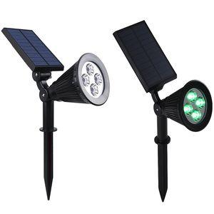 Solar Spotlight 7 LED Garden Spot Light Lâmpadas gramado luz ao ar livre Quintal Lamp Solar Spotlight Lawn Luz de inundação