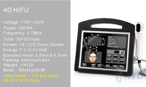 2019 portátil 3D HIFU Máquina de estiramiento facial eliminación de arrugas cuerpo adelgazar máquina máquina de la reducción de grasa facial HIFU DHL envío libre de la CE