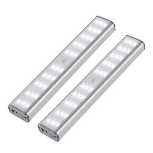 pir sensörü Dolap ışık Sensörü Duvar Lambaları LED Night Lights Banyo Ayna Mutfak Dolap Altı Dolap Duvar Aydınlatma USB Charge için
