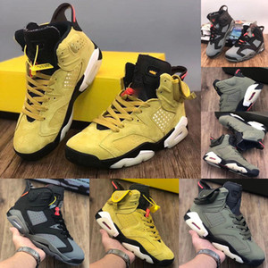 Begrenzte Travis x Houston High Quality Travis Scott x 6 6s Herren-Basketball-Schuhe CN1084-300 Kaktus Jack Weizen Yellow Jumpman Retro