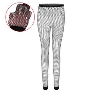 19 nuovi i migliori signora delle donne senza gambe calze leggings sexy a rete pantaloni stretti M griglia in prospettiva bella