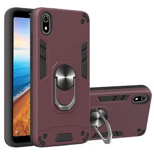 Metal Armor Car Anneau Porte-cas pour Xiaomi redmi K20 / K20 redmi Pro / Mi 9T / Mi 9 Pro Pare-chocs magnétique Phone Housse